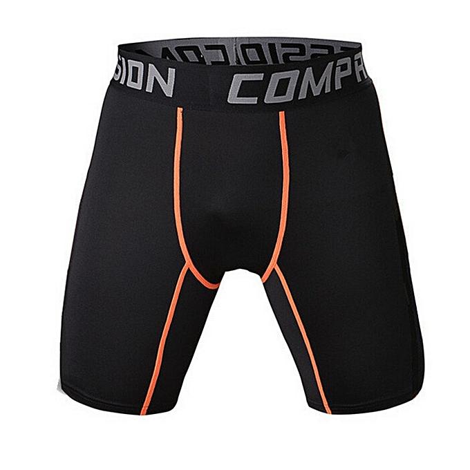 Other New Stylish Men Compression Crossfit Orange Line Shorts à prix pas cher