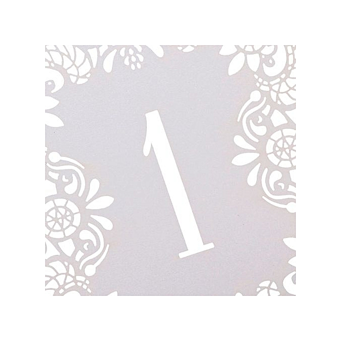 No 1 10 ivory laser cut place table numbers cards wedding for Appareil laser epilation maison