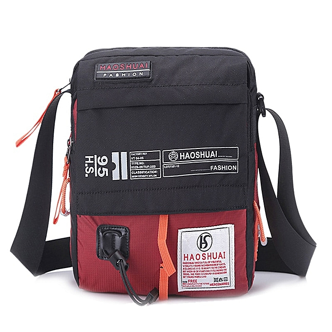 Other Men Nylon Messenger Bag Shoulder Crossbody Bags Multifunction Fashion Casual Hiking Bicycle Travel Satchel School Handbag XA80ZC(rouge) à prix pas cher