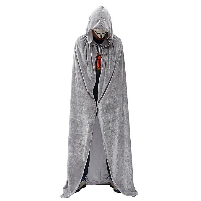 OEM HalFaibleeen Costume Vampire Witchcraft Cape Gothic encapuchonné velours Cloak Wicca Robe marron S à prix pas cher