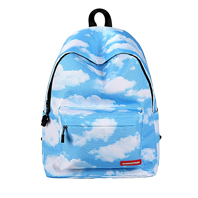 UNIVERSAL Cloud Pattern Print Travel Backpack School Shoulders Bag for Girls, Taille  40cm x 30cm x 17cm à prix pas cher