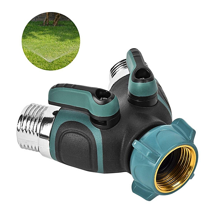 UNIVERSAL Y Shaped Garden Hose Pipe Splitter 2 Way Connector Turn Off Plastic Tap Adaptor à prix pas cher