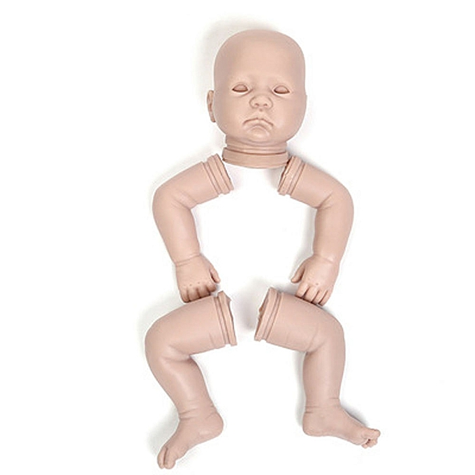 Generic Fovibery Hot Full Solid Soft Silicone Handmade Kit DIY Kits For Reborn Baby Lifelike Doll à prix pas cher