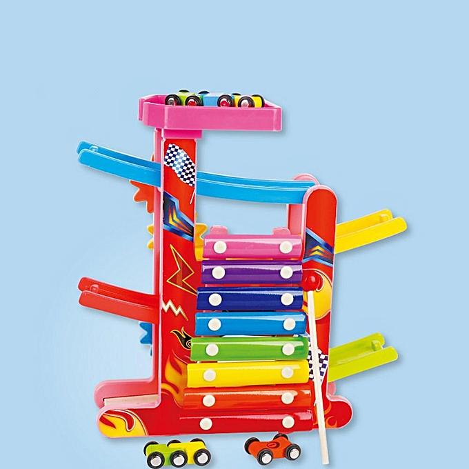 Autre Huilopker ds Slot Track Car Toys Ladder Gliding Slot en bois Piste Jouet Éducatif à prix pas cher