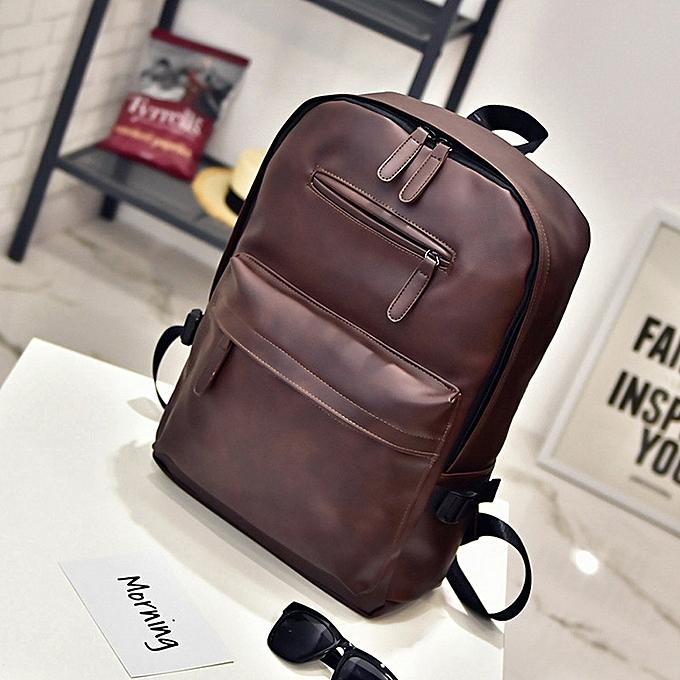 mode Xiuxingzi Neutral cuir sac à dos Laptop Satchel voyage School sac à dos sac à prix pas cher