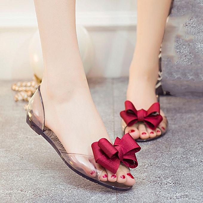 Fashion TEC femmesOpen Toe Jelly Slip On chaussures Big Floral Fish Mouth Beach Sandals à prix pas cher