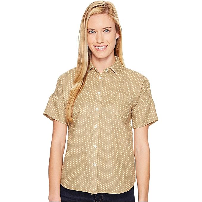 United By bleu Haut pour femmes Short Sleeve grislock Dot Shirt à prix pas cher