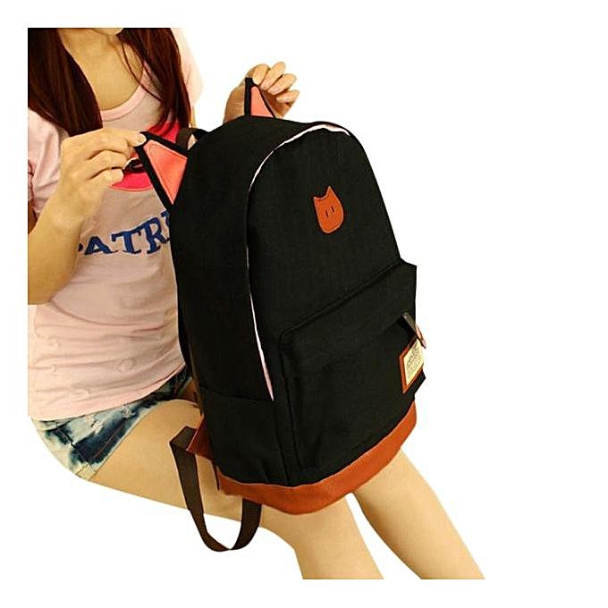 Fashion Tcetoctre femmes Campus Girls Travel Young men Backpack Bags Sports School Bags BK- noir à prix pas cher