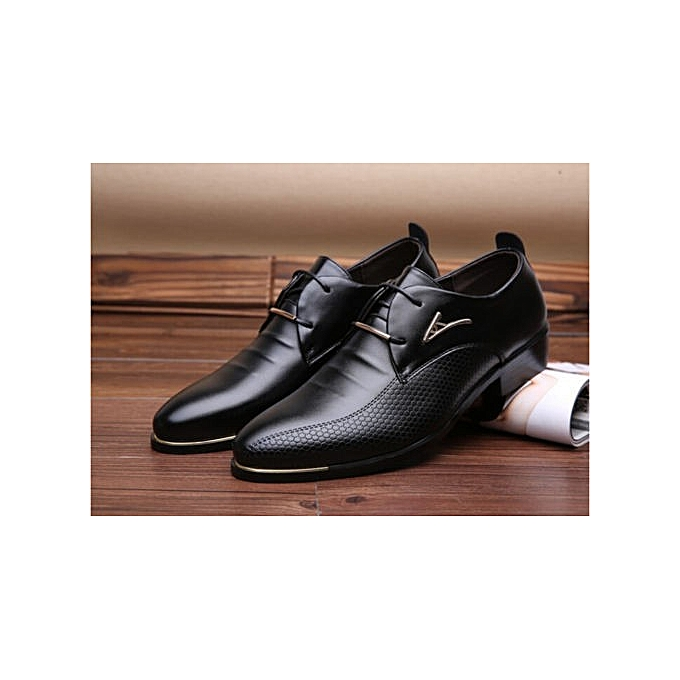 Fashion New Mens Leather Lined Italian Casual Formal Brogues Office Wedding chaussures bottes à prix pas cher    Jumia Maroc
