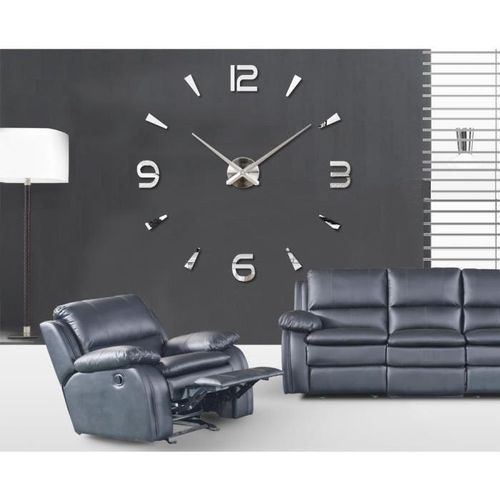 as seen on tv horloge murale design 3d 1 20m silver acheter en ligne jumia maroc. Black Bedroom Furniture Sets. Home Design Ideas