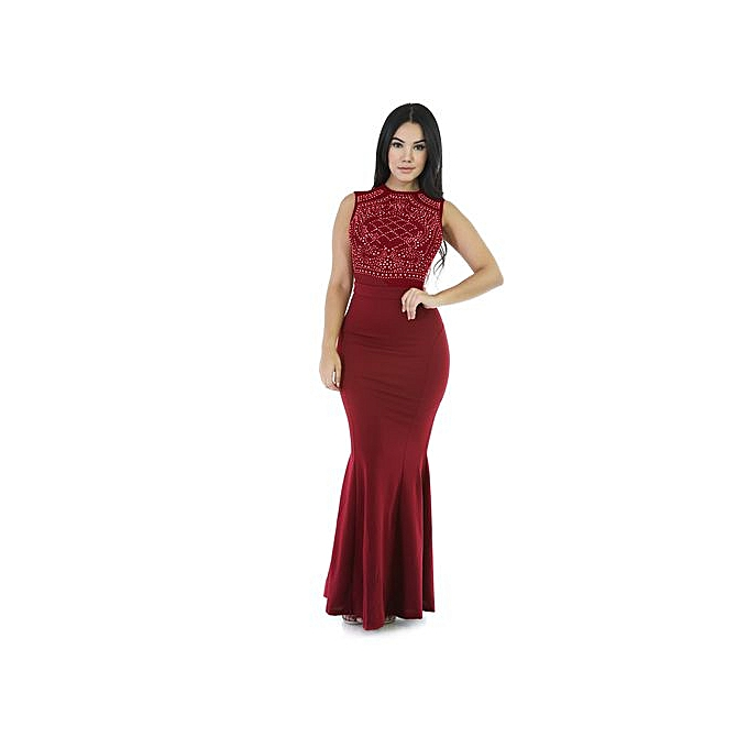 OEM New Summer femmes Maxi Dresses Fashion  Female Party Night Club Long Dress noir blanc bleu Dress Vestido-wine rouge à prix pas cher