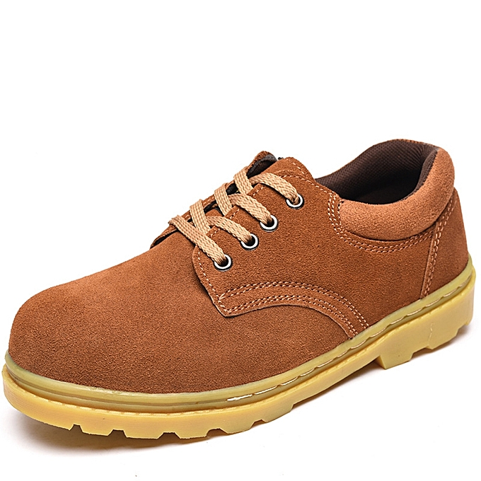 Fashion Men Breathable Suede Leather baskets Anti Collision Toe Outdoor Working chaussures à prix pas cher