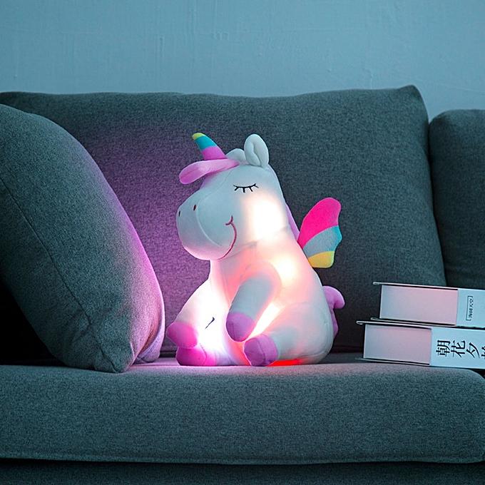 Autre 30cm LED Plush lumière Up Toys Unicorn Stuffed Animals Plush Toys Cute Pony Horse Toy Soft Doll Enfants Toys Christmas Birthday Gifts à prix pas cher