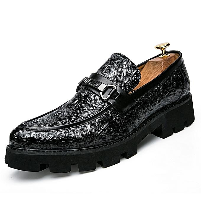 Fashion Platform Moccasins Men Alligator Formal chaussures (noir) à prix pas cher    Jumia Maroc