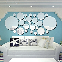 423b9d4d1 26 قطعة / المجموعة الاكريليك البولكا دوت مرآة الحائط ملصقات غرفة نوم مطبخ  الحمام عصا صائق