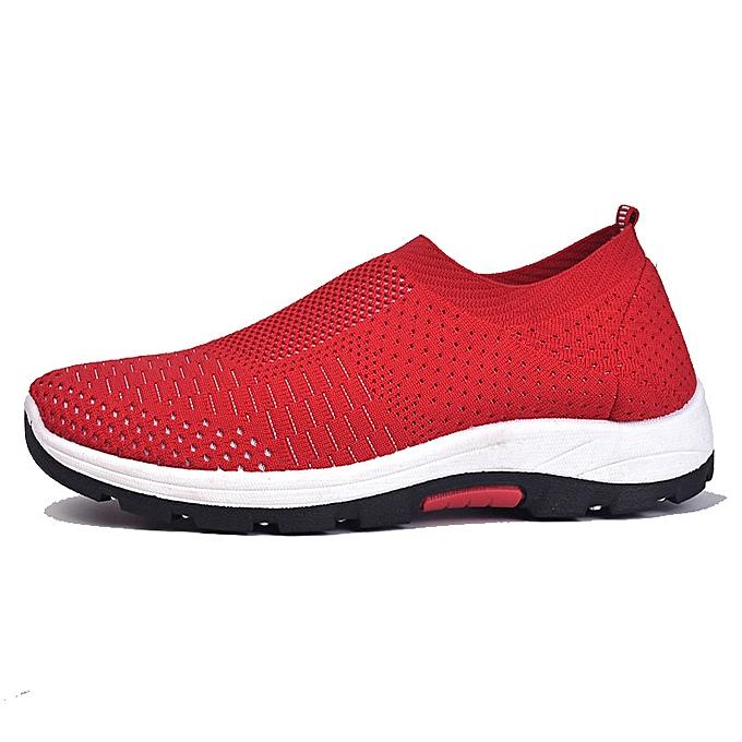 Fashion Men's casual chaussures breathable a pedal socks chaussures rouge à prix pas cher    Jumia Maroc