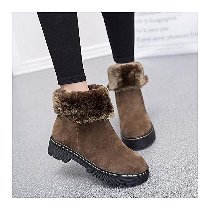 Fashion Fashion Foldable Slip On Warm Ankle Winter Snow bottes For femmes à prix pas cher    Jumia Maroc