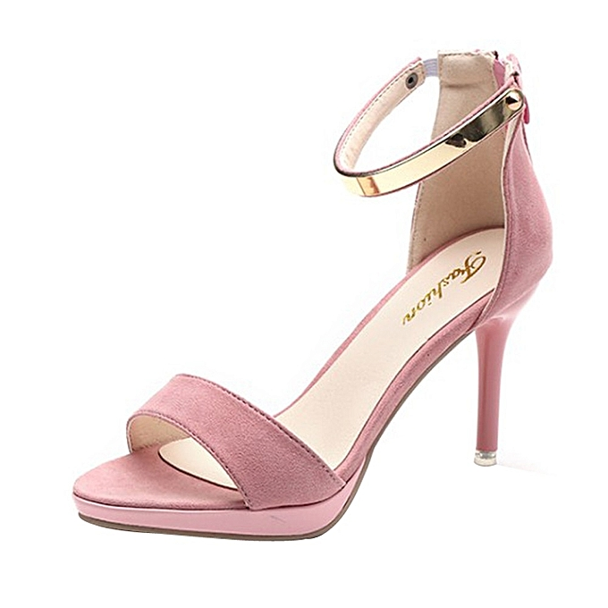 Générique Sedectres Fashion WoHommes  Round Round Round Toe Buckle Strap Comfortable Work High Heel Party Shoes-Pink à prix pas cher  | Jumia Maroc a6c1e0