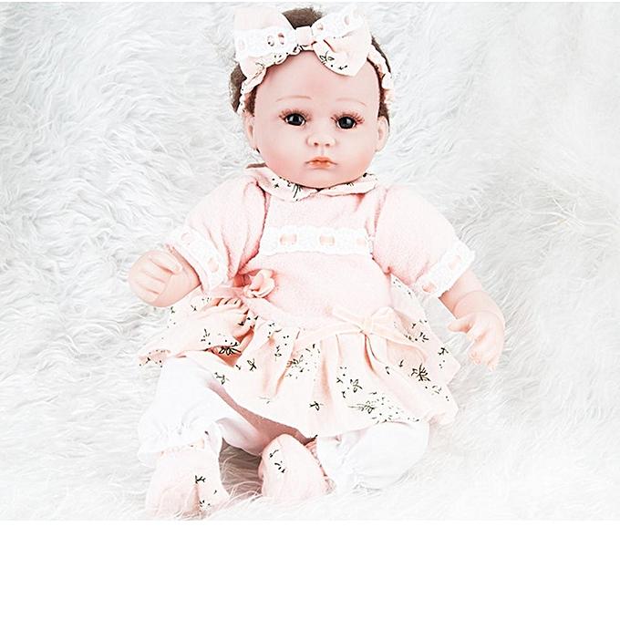 UNIVERSAL 18'' 45CM Lifelike nouveauborn Babies Silicone Vinyl Reborn   Dolls Handmade Gift à prix pas cher
