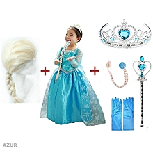157c3289177 Pack ROBE de princesse ELSA La reine des neiges Frozen ET 5 Accessoires