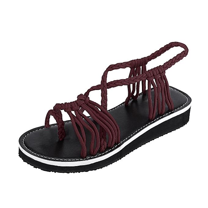 Fashion TEC femmes Flip Flops Sandalschaussures Woven StrapBeach chaussures Slippers à prix pas cher