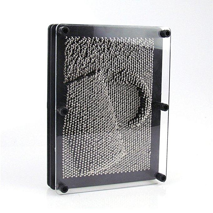 Autre 3-DiPour des hommesional Art Board Sculptures en métal Jouet éducatif argent & amp;grand noir à prix pas cher