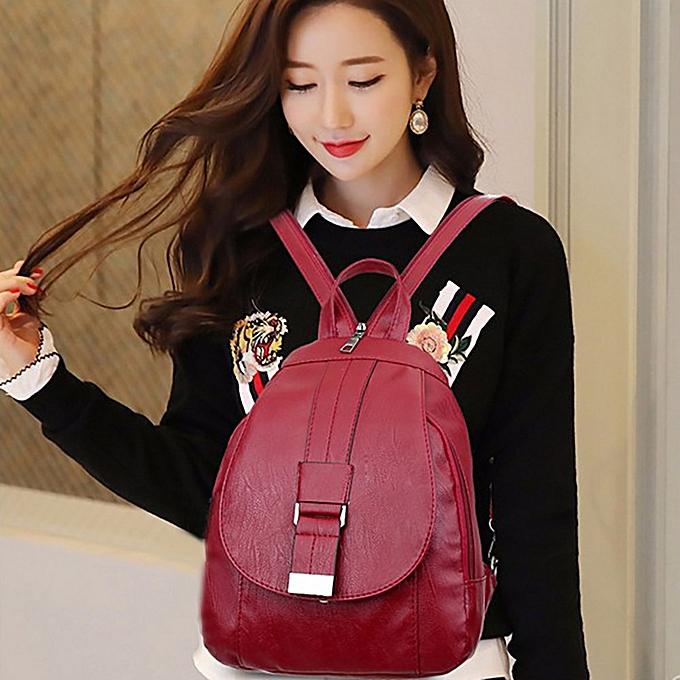 Fashion Singedan Shop Backpack Bag Multi-purpose Dual-use Chest Bag Soft Leather Mother Bag WE à prix pas cher