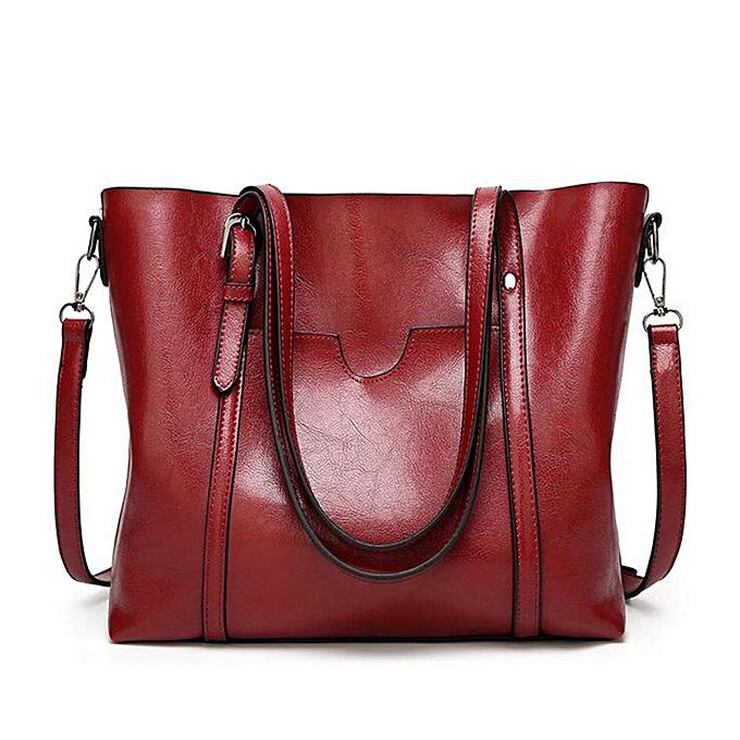 mode femmes grand Retro Handsac cuir Shopping sac bandoulière Shoulder Tote Satchel  wine rouge à prix pas cher