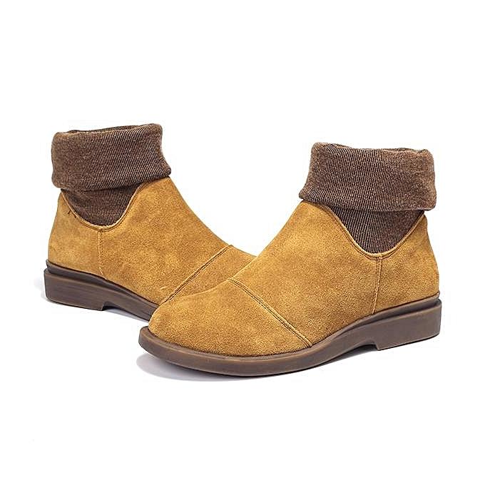 Fashion Fashion WoHommes  Color Blocking Ankle Ankle Ankle Genuine Leather Winter Warm Boots à prix pas cher  | Jumia Maroc 910feb