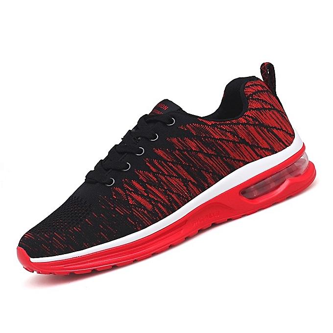 Fashion Air Cushion Web Sport chaussures-rouge à prix pas cher