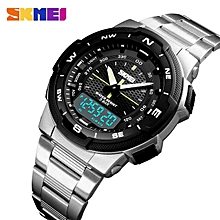 02d30bc72 SKMEI Men Watch Fashion Business Digital Quartz Watch Stainless Steel Clock  Saat Watches reloj hombre relogio