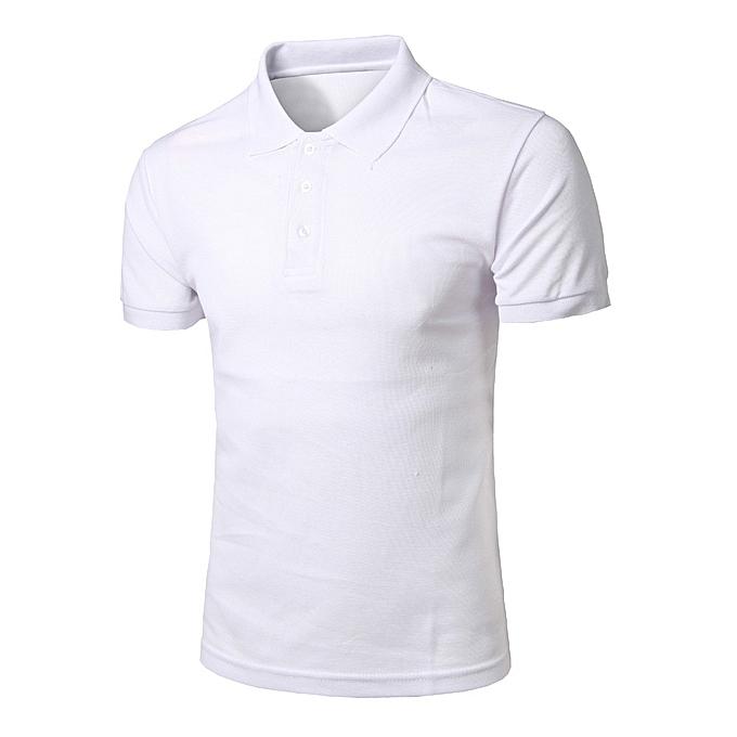 mode mode Personality Hommes& 039;s Décontracté Slim manche courte Solid T Shirt Top chemisier à prix pas cher