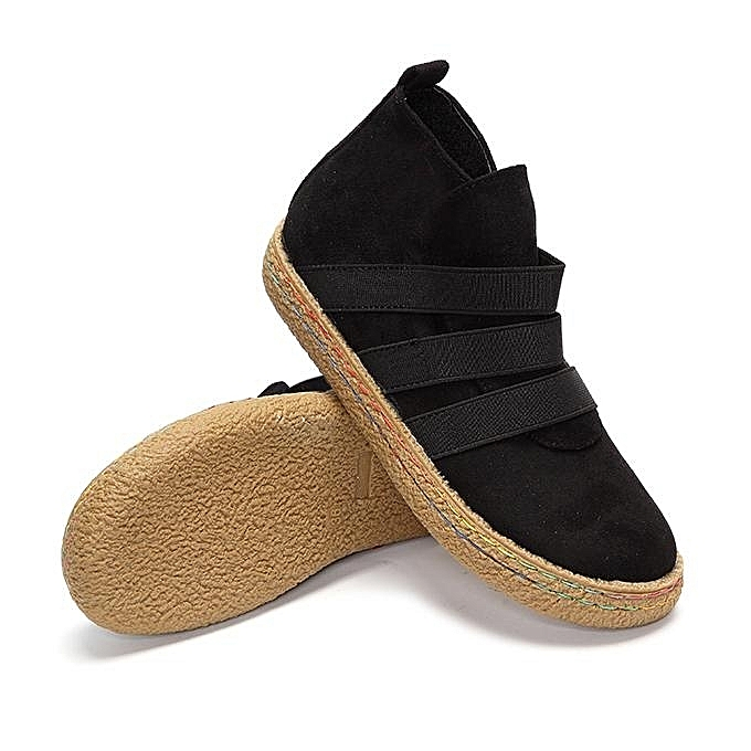 Fashion Fashion Pure WoHommes  Elastic Slip On Pure Fashion Color Ankle Flat European Style Boots à prix pas cher  | Black Friday 2018 | Jumia Maroc 86d35f