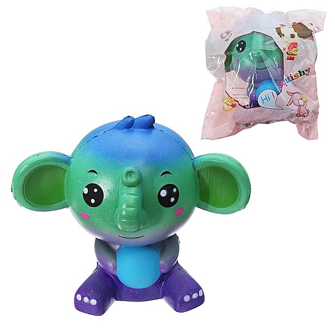 UNIVERSAL Squishy Jumbo Elephant Galaxy Couleur Toy SFaible Rising Soft Animal Collection Gift  Packaging- à prix pas cher