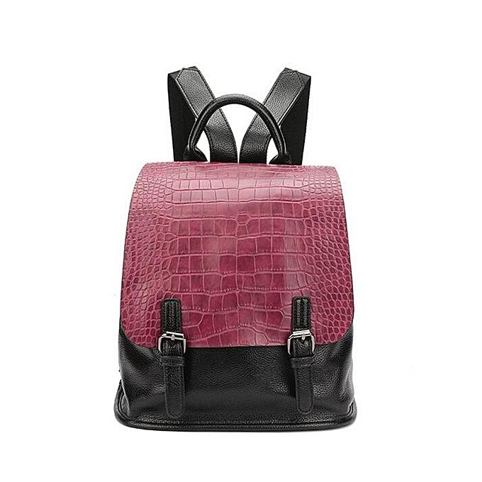 mode Vintage femmes PU cuir sac à dos Daypack School Booksac sac à dos Shoulder sac rouge à prix pas cher
