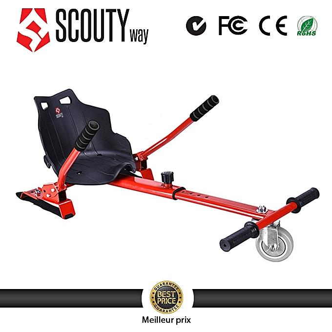 Scoutyway Hoverkart-Hoverboard Kart-Hoverboard Siège-rouge à prix pas cher