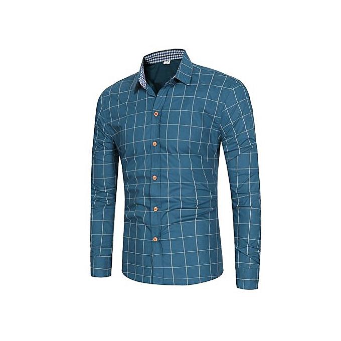 GeneAfrica Office Hommes manche longue Shirts à prix pas cher