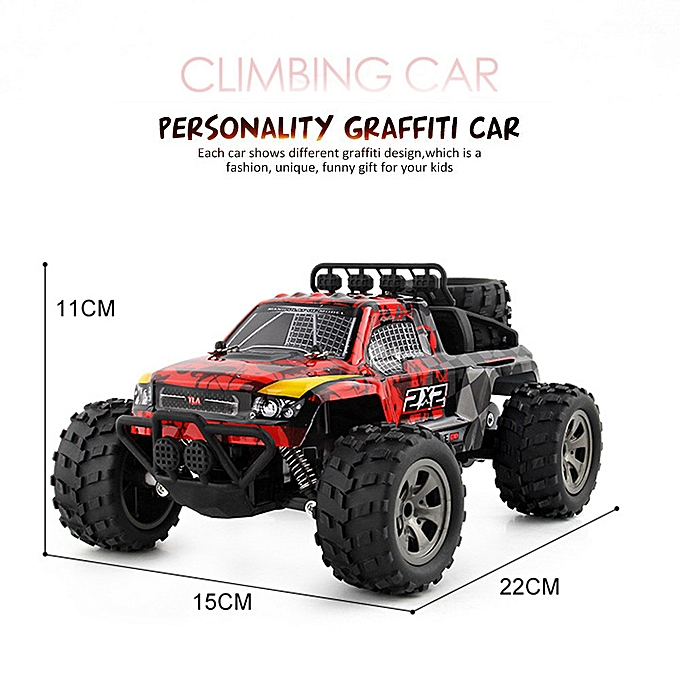 Generic 2WD Rock Crawler 1 18 Rechargeable Remote Radio Control Truck Off Road RC Car à prix pas cher
