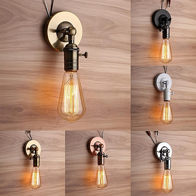 UNIVERSAL E27 Modern Edison Vintage Ceiling Light Wall Lamp Bulb Holder Socket Sconce à prix pas cher
