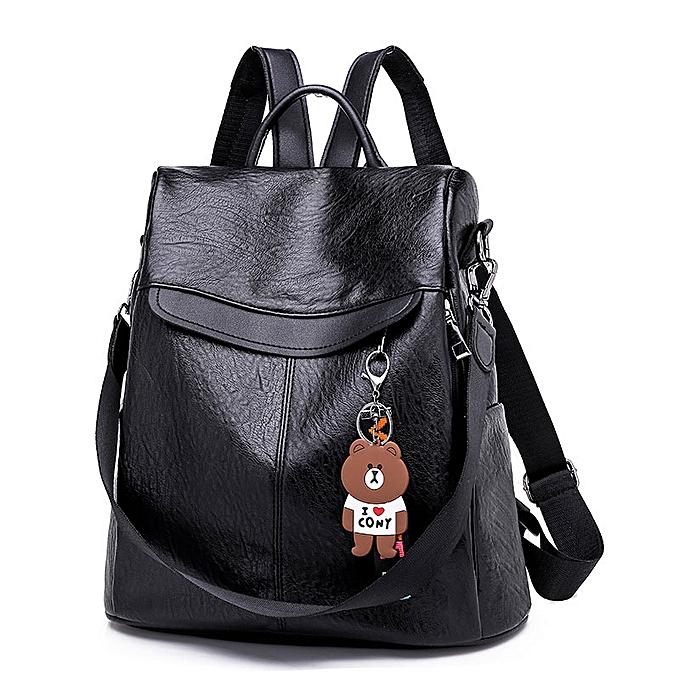 Other marron femmes sac à dos cuir School sacs For Teenage Girls Décontracté grand capacité Multifunction Retro voyage sac à dos XA163H(noir) à prix pas cher