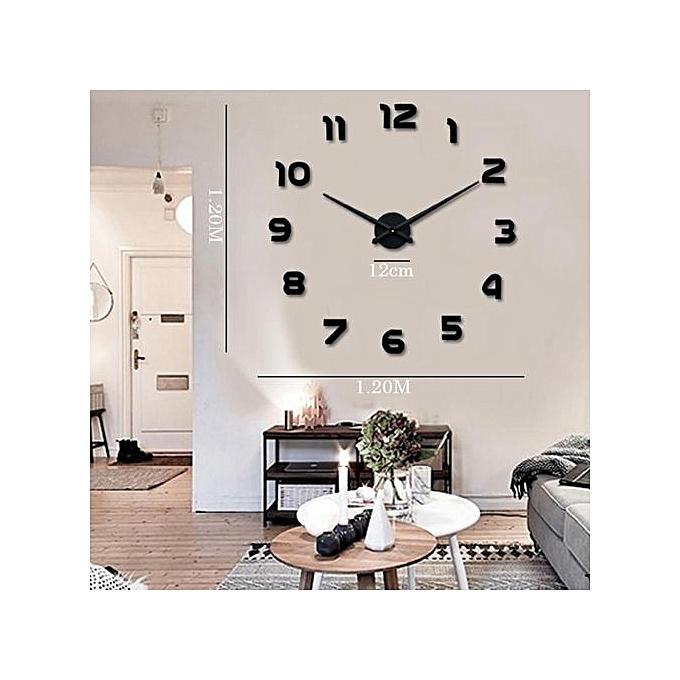 Horloge murale diy autocollant miroir d cor la maison 3d for Aide gouvernementale achat maison