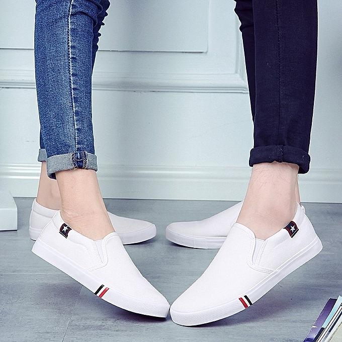 Other Korean Hommes's toile blanc chaussures à prix pas cher