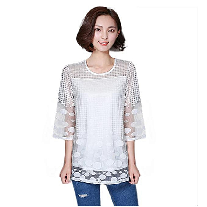 Fashion Meibaol store 1 PC Fashion And Elegant femmes Three Quarter Sleeve Shirt L à prix pas cher