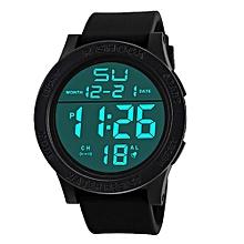 a1bbdda1f Hiamok_Fashion Waterproof Men's Boy LCD Digital Stopwatch Date Rubber  Sport Wrist Watch