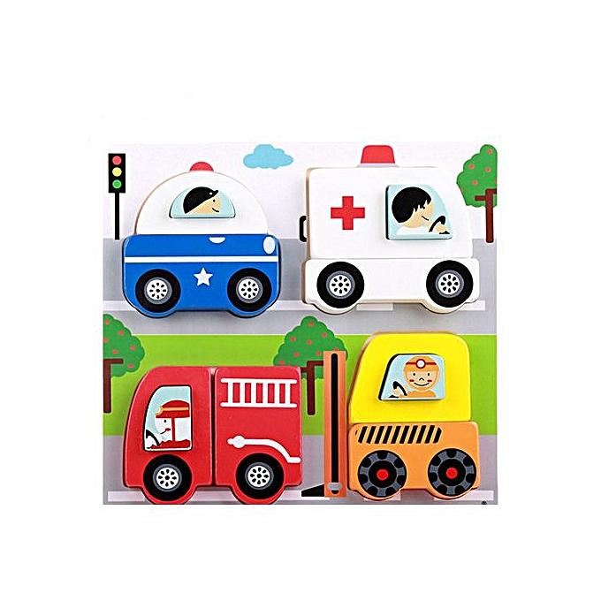 Generic 1PC Wooden Puzzle Educational Developmental Baby Kids Training Toy A à prix pas cher