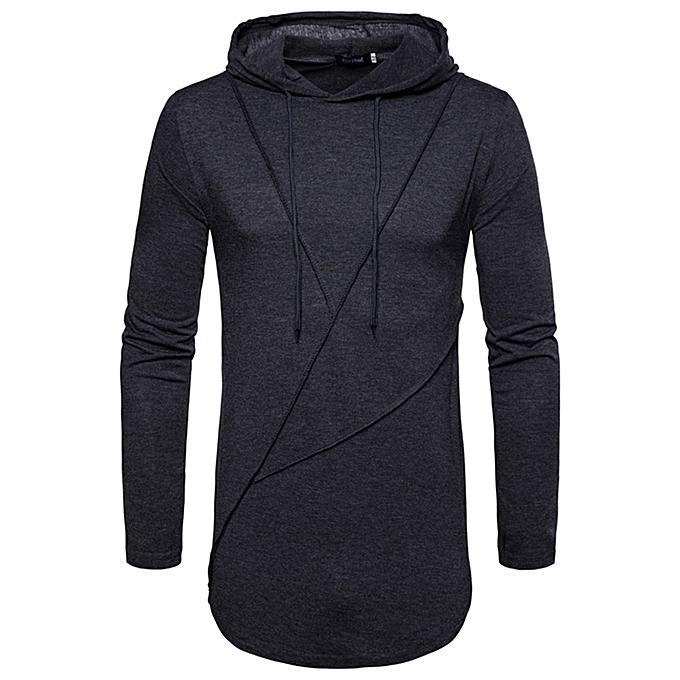 mode Hommes& 039;s Autumn Pure Couleur Joint manche longued sweat à capuche Sweatshirts Top chemisier à prix pas cher