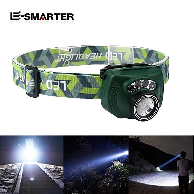 GENERAL quanxinhshang  2Pcs Full View Vision 3W LED Induction Headlight Hands Free Head torch à prix pas cher