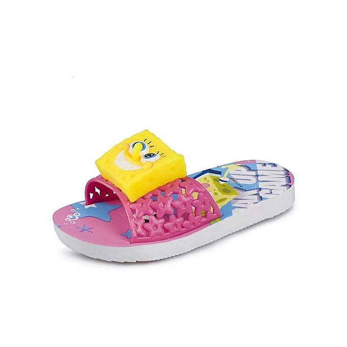 mode Home slippers voituretoon SpongeBob mode nouveau slippers garçons girs slippers Enfants slippers-rose à prix pas cher