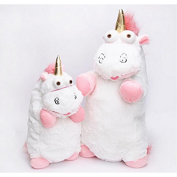 Autre 56cm 40cm 18cm 15cm Fluffy Unicorn Plush Toy Soft Stuffed Animal Unicorn Plush Dolls Juguetes de Peluches Bebe(40cm) à prix pas cher