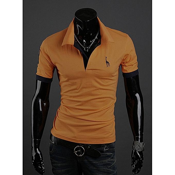 OEM T-shirt Hommes& 039;s courte-sleeved shirt popular mode pop polo shirt-jaune à prix pas cher